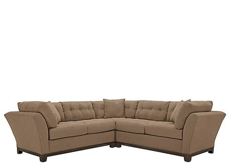 cindy crawford home metropolis 3 pc microfiber sectional