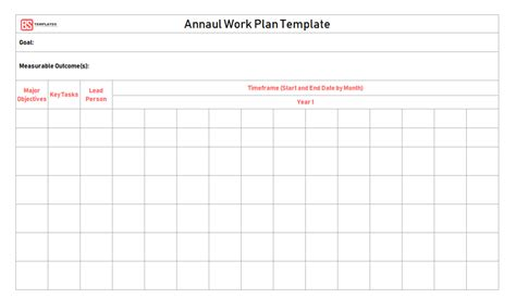 work plan templates samples examples word excel