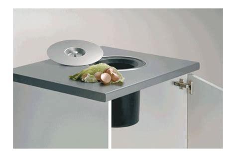 cercle inox cuisine poubelle à encastrer dans plan de travail accessoires de