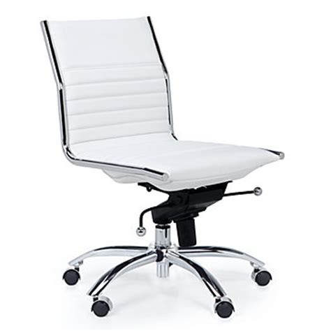 white office chair modern malcolm armless chair  gallerie