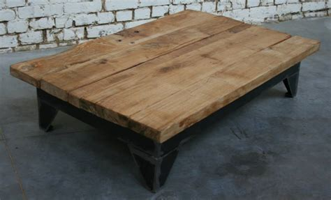 table basse bois industriel atlub