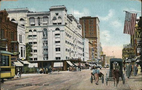 Hotels Cadillac Michigan by Cadillac Hotel Detroit Mi Postcard