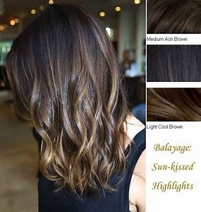 Inches medium ash brown light cool browm balayage clip