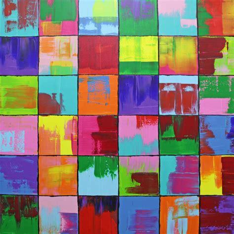 acryl auf leinwand abstrakt bild gem 228 lde bunt abstrakt malerei michael
