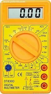 Dt830d Digital Multimeter