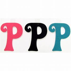 felties script letter with adhesive p pink black blue set With pink adhesive letters