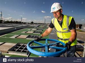 Pipes And Valves In Waste Water Treatment Plant London