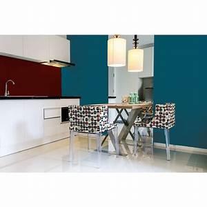 Peinture Murale Couleur : peinture murale monocouche couleur bleu canard 2 5litres satin ~ Melissatoandfro.com Idées de Décoration