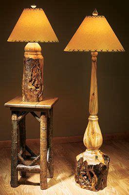 rustic aspen log lamps wild wings wood turning wood