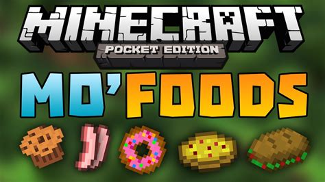 mo 39 foods mod adds 20 food items minecraft pocket edition