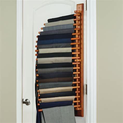 the closet organizing trouser rack hammacher schlemmer