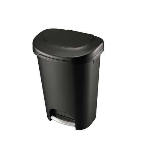 step  trash   gal rubbermaid waste garbage bin basket kitchen home black ebay