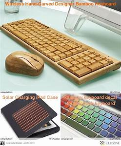 Wooden keyboard & mouse for computer (gadgets, ideas ...