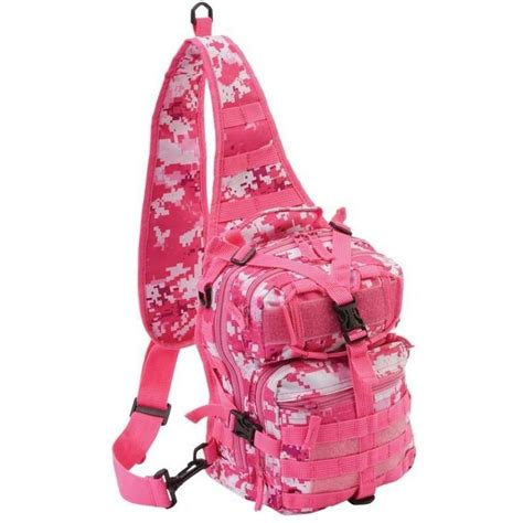 pink outdoor camo sling backpack womens camp tactical hike run shoulder pack ebay