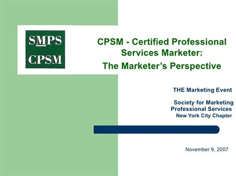 certified marketing professional certified professional service marketer a practitioner s