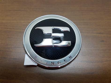 Kia E Badge oem kia stinger e badge emblem kia stinger dot
