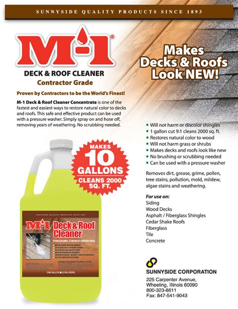 Sunnyside Deck Wash by Roof Cleaner Professional U0026 Quality Roof Cleaning