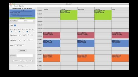 Schedule Template by Free College Schedule Maker Builder Link In Description