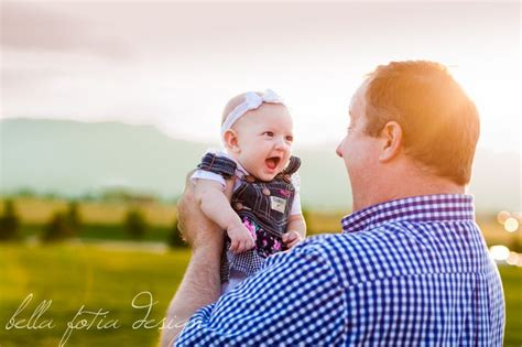 month  photo idea baby girl smiles   daddy