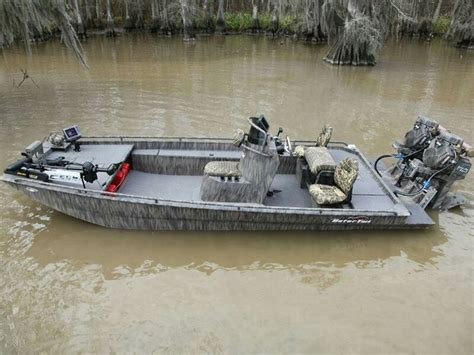 Duck Boat Outboard by Gator Boats Pontoon And Shallow Water Boats