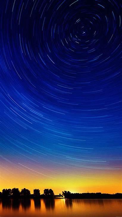 Sunset Sky Smartphone Stars Star Circle Lake