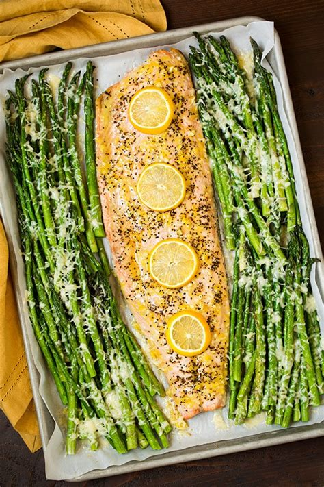 lemon pepper salmon  parmesan asparagus cooking classy