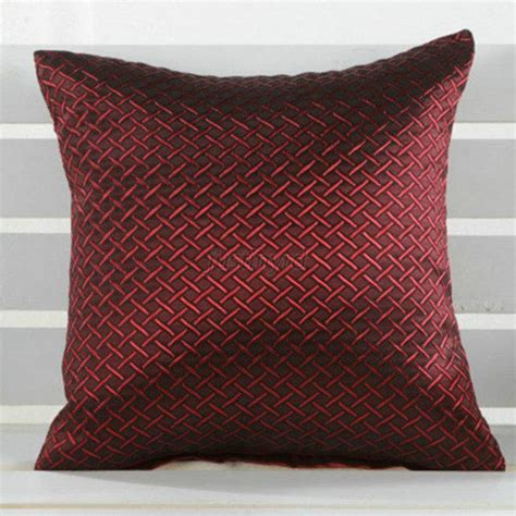 6505 grid pillow cases home car sofa decorative luxury grid throw pillow