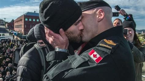 Same Sex Couple Share Traditional Canadian Naval First