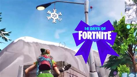 fortnite   complete destroy snowflake decorations
