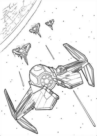 anakin skywalkers eta  starfighter coloring page