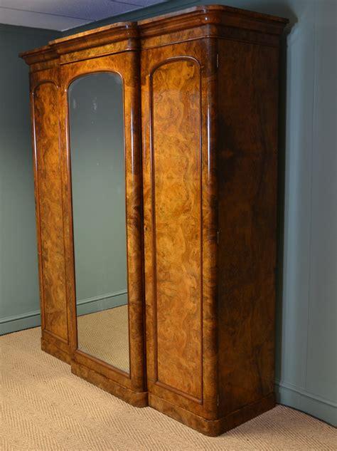 Walnut Wardrobe by Magnificent Large Figured Walnut Antique