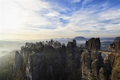 germany saxony view  saxon switzerland national park