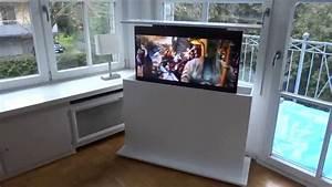 Versenkbarer Fernseher Möbel : modlinedesign tv lift vertix im schrank youtube ~ Eleganceandgraceweddings.com Haus und Dekorationen
