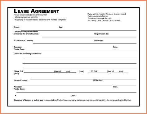 Lease Agreement Template Word 5 Microsoft Word Lease Agreement Template Purchase