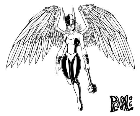 Hawkgirl -lines- By Penril On Deviantart