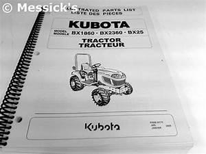 Kubota  Bx1860  Bx2360  Bx25 Parts Manual  Part   97898