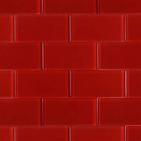 pictures of subway tile backsplashes in kitchen shop for loft cherry polished 3x6 glass tile at
