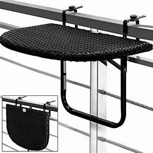 Tisch Für Balkongeländer : balkontisch h ngetisch polyrattan klapptisch balkon ~ Whattoseeinmadrid.com Haus und Dekorationen