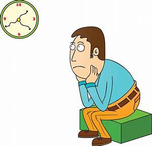 Waiting With Clock Clipart - ClipartXtras