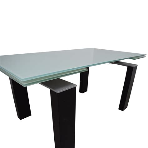 black and silver table ls 88 off bontempi bontempi glass top with black and