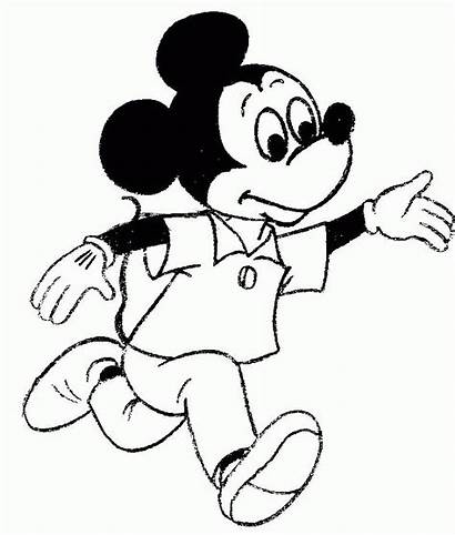 Mickey Mouse Coloring Pages Drawing Printable Step