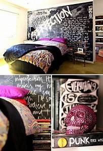 Punk rock bedroom decorations for Punk rock bathroom decor