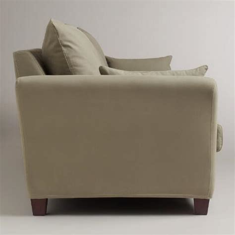 sage luxe 3 seat sofa slipcover world market