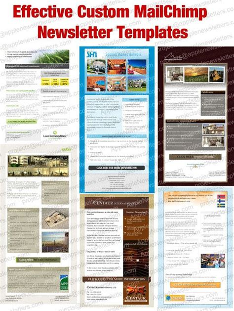 Mailchimp Newsletter Templates 17 Best Images About Custom Html Email Templates On