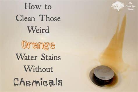 clean orange water stains  creek  house