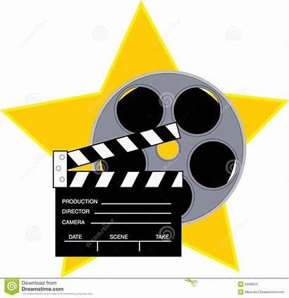 Reel Clipart Border Movies Star Night Background