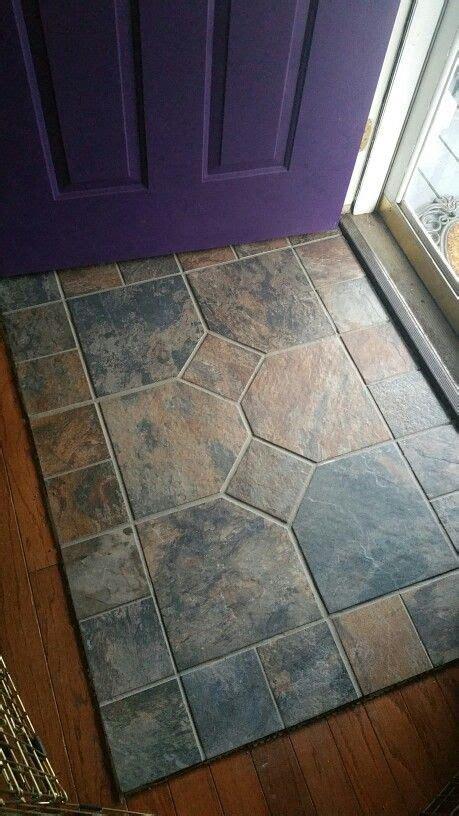 slate entry porcelain tile    wood