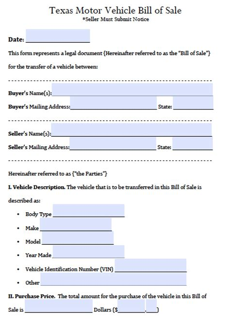 used car bill of sale form pdf free texas motor vehicle bill of sale form pdf word doc