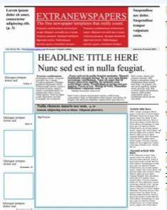 wonderful free templates to create newspapers for your With google docs elementary newspaper template