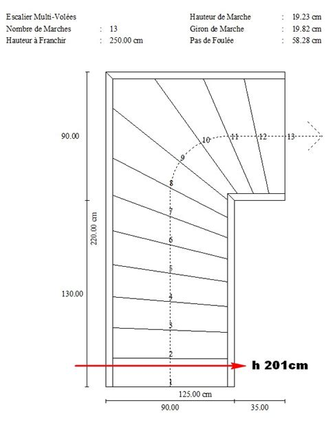 calculer la pente d un escalier soucis echapp 233 e disponible